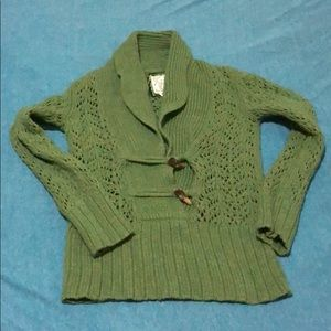 Old Navy shawl collar open knit sweater Small